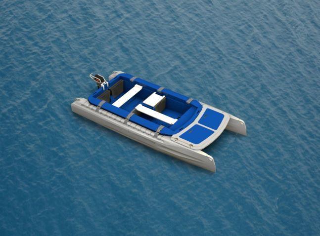 Concept NAU : barque catamaran a moteur