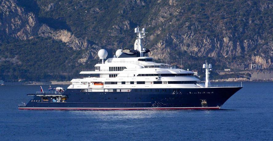 Super yacht Octopus, le plus grand des 3 megayachts du co-fondateur de Microsoft Paul Allen