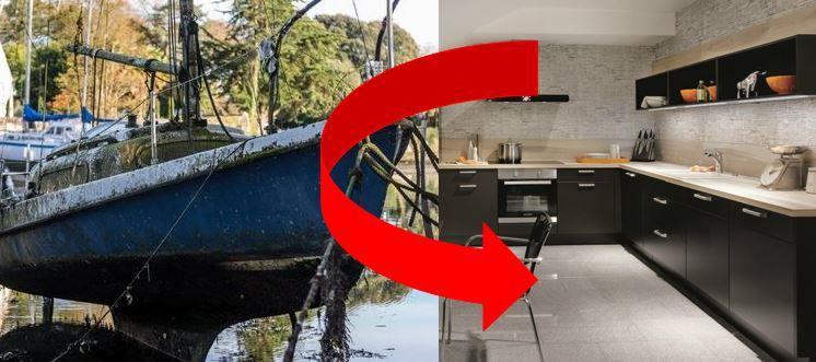 Demain, les bateaux de plaisance seront recyclés en carrelages, plans de travail et revêtements intérieurs pour l'habitat
