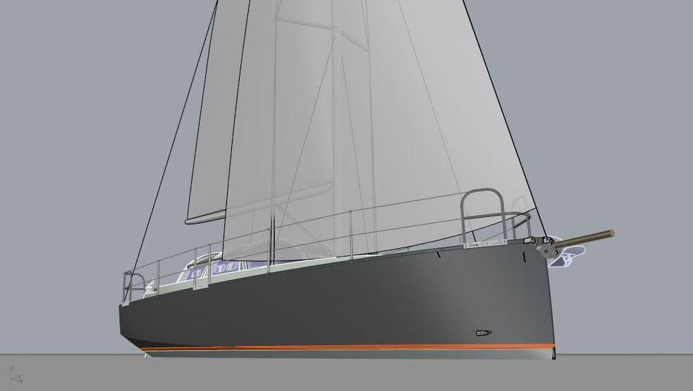 Nouveau Monde, un voilier de grand voyage biquille alu de 8.90m