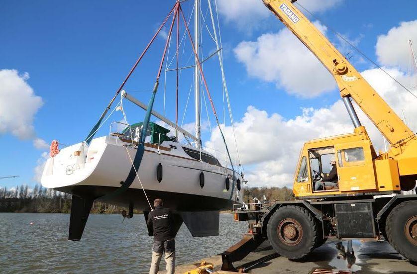 Mise à l'eau du tout premier Biloup 109 du chantier Wrighton (14)