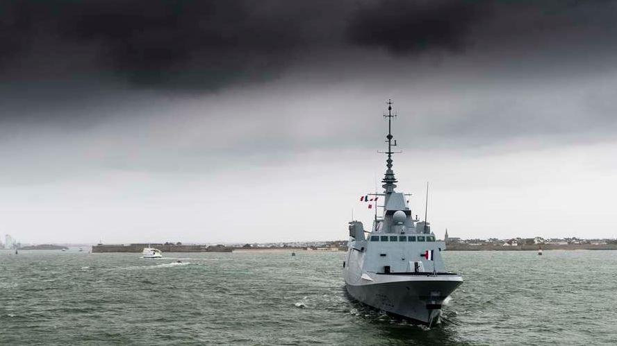 La Fremm Langedoc quitte Lorient pour Toulon (photo : Marine Nationale)
