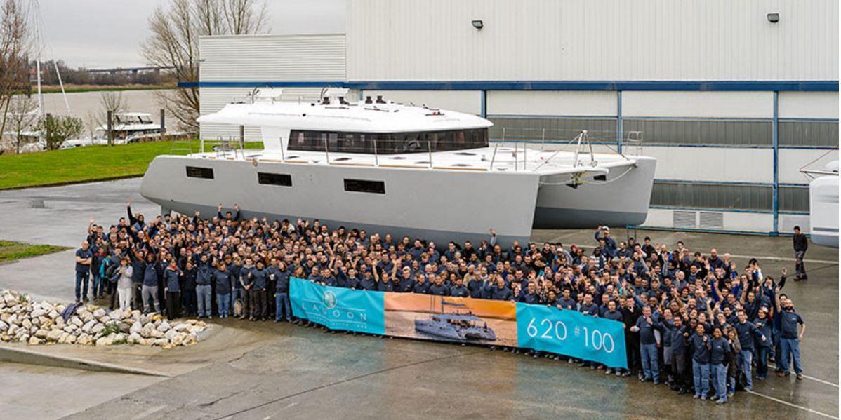 100 exemplaires déjà construits du catamaran Lagoon 620 - Photo : Nicolas Claris