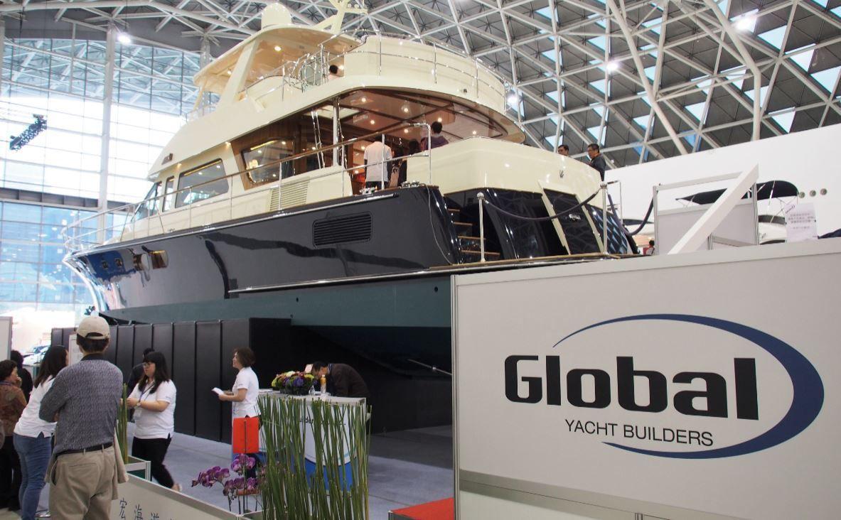 Le tout nouveau Global / Hunt 68 Fly exposé au Taïwan Boat Show