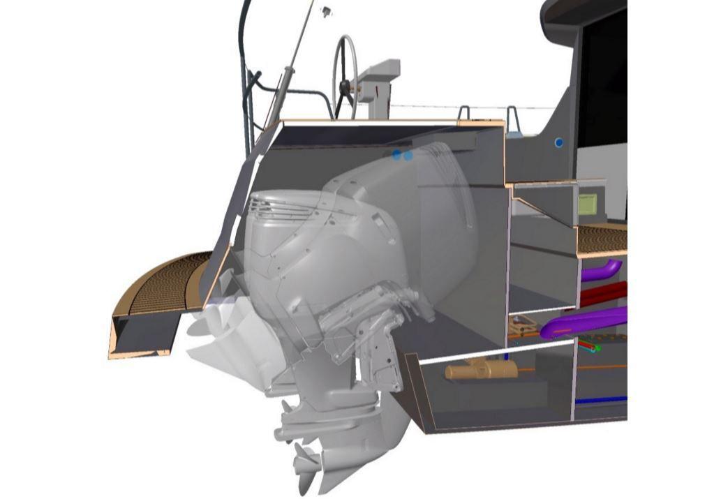 SCOOP - l'étonnant voilier hybride BD56 dévoile ses 2 moteurs hors-bord cachés