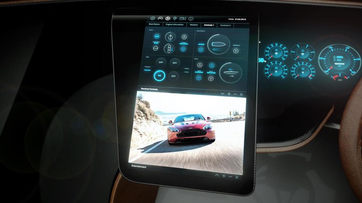 Nouveaux visuels du canot automobile signé Aston Martin et Quintessence Yachts