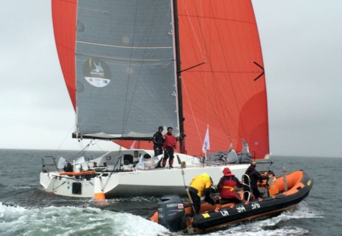 Talès II vainqueur de la Normandy Channel Race 2016 devant Ymeris