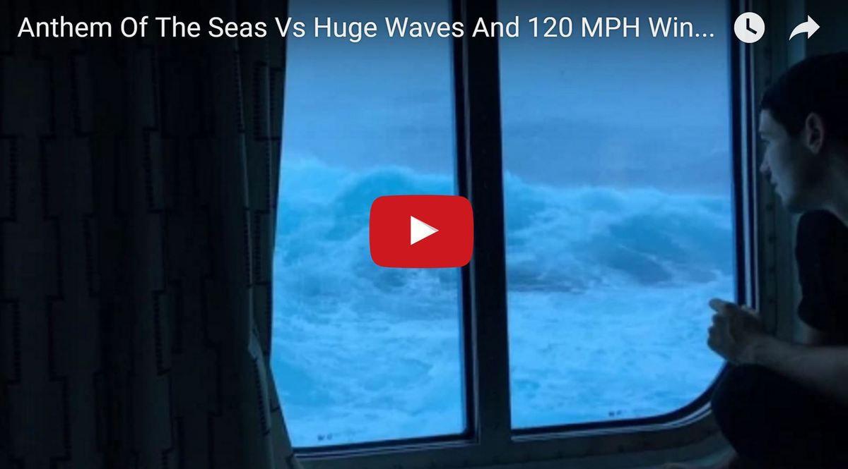 Vidéo - Dantesque, des vagues de 9m s'abattent sur le paquebot Anthem of the Seas
