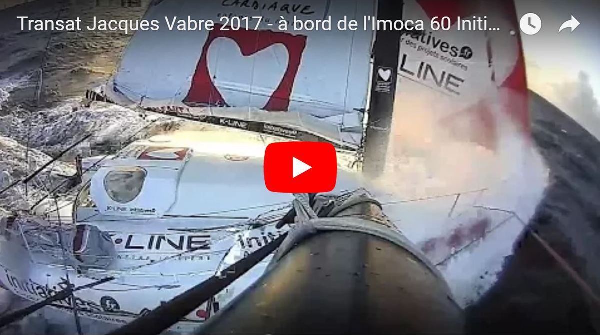 VIDEO Transat Jacques Vabre - impressionnantes, les images filmées à bord de l'Imoca 60 Initiatives Coeur