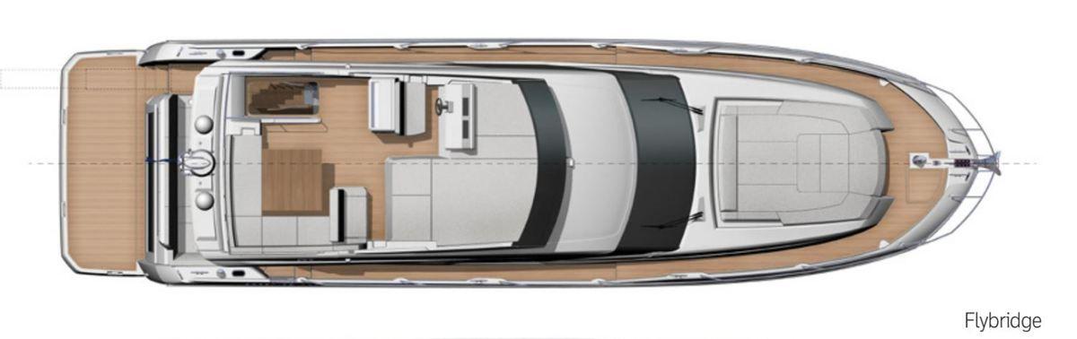 Plans d'aménagement de la Prestige 590