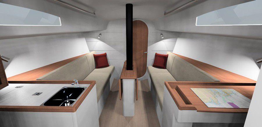 Un intérieur au design moderne et intemporel pour le J/99