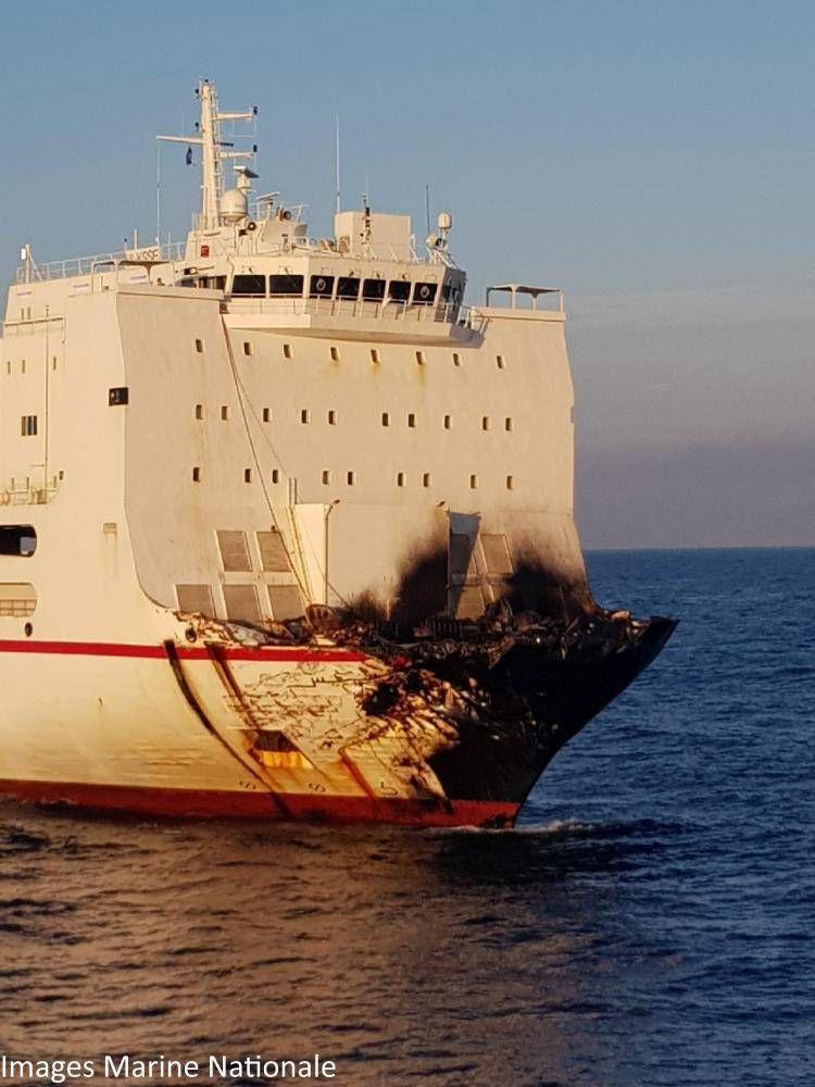 Corse - le roulier tunisien désincarcéré du porte-conteneurs chypriote
