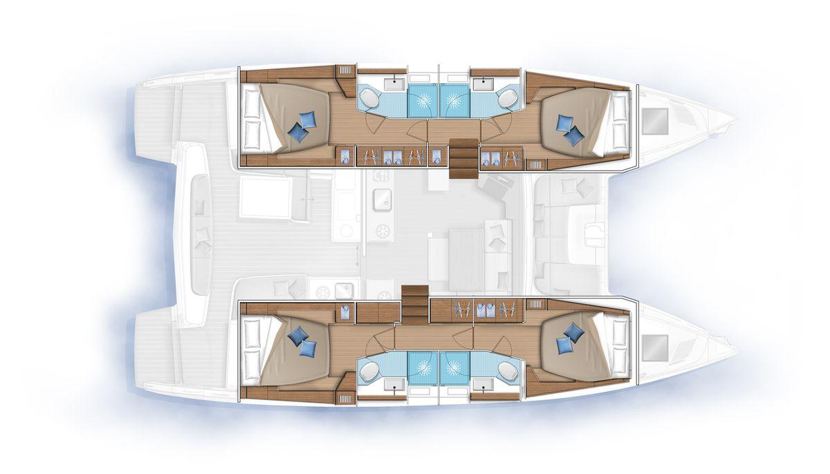 Plan d'aménagement du LAGOON 46
