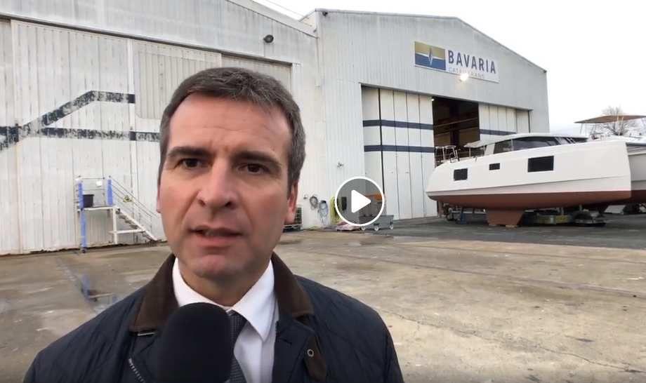 Hervé Blanché, président de l'agglomération de Rochefort, mobilisé pour le projet de nouvelle usine de Nautitech Catamarans