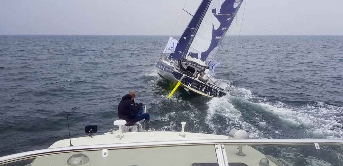 Un Targa 42 au départ de la Normandy Channel Race