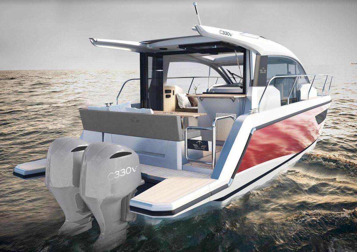 Motonautisme - La Sealine C330 passe au hors-bord et devient Sealine C330V