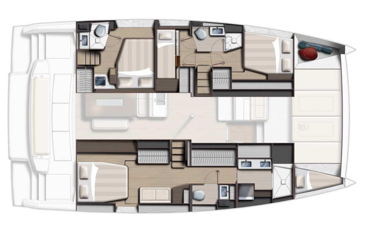 2 versions 4 cabines pour le Bali 4.6