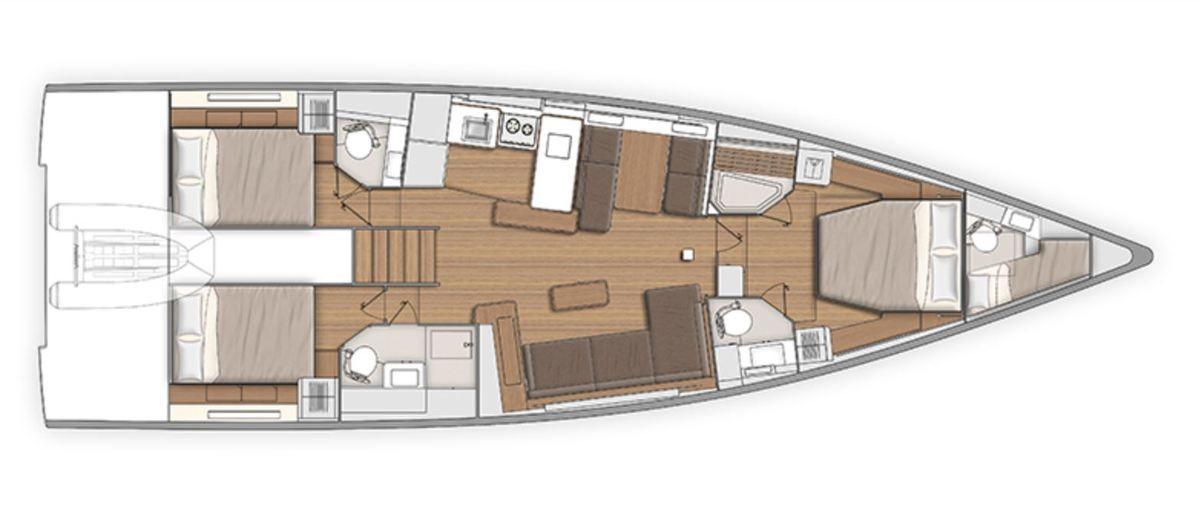 Bénéteau First Yacht 53 - 22 minutes de visite privée
