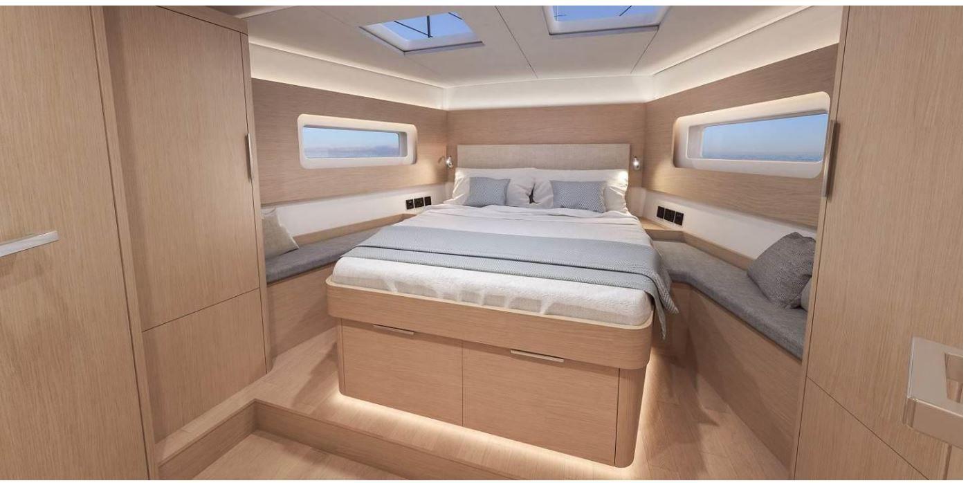 Vues de l'intérieur du Bénéteau Océanis Yacht 54