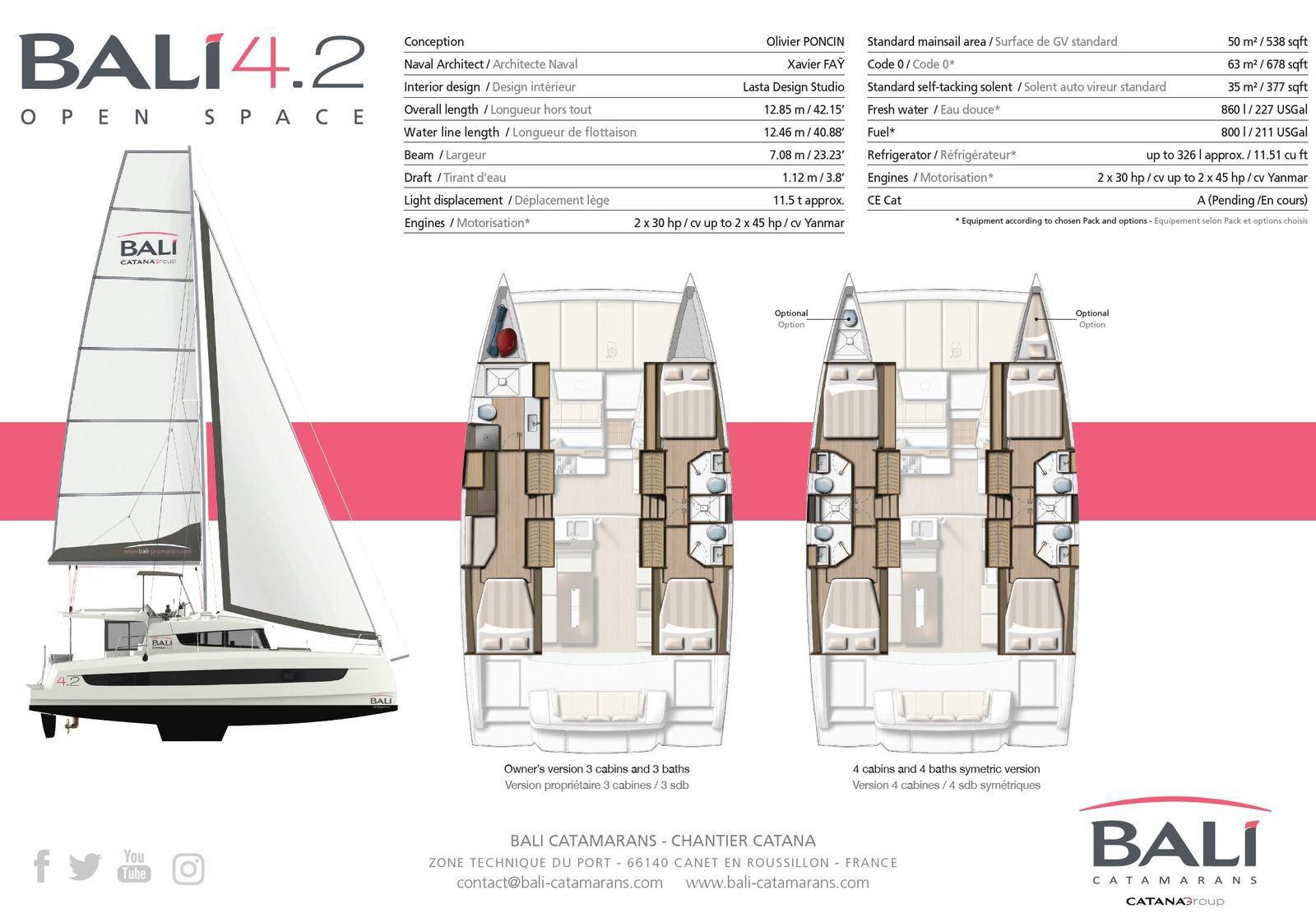 Scoop - Bali 4.2, un tout nouveau catamaran, livrable dès février 2021 !