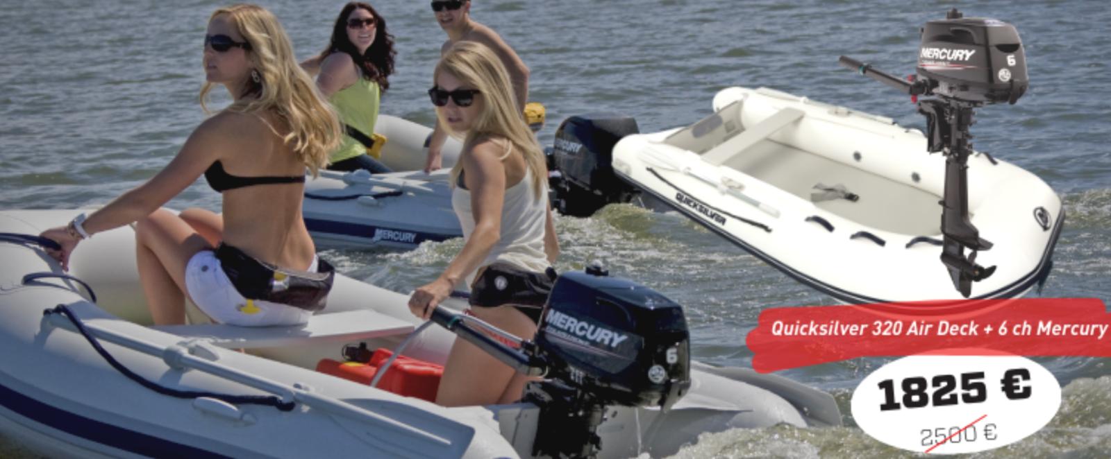 Faire du bateau à moteur, sans le permis : les promotions de Mercury Marine