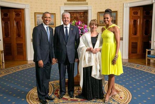 Mr et Mme Sellal, reçus à la maison blanche, par le président des USA