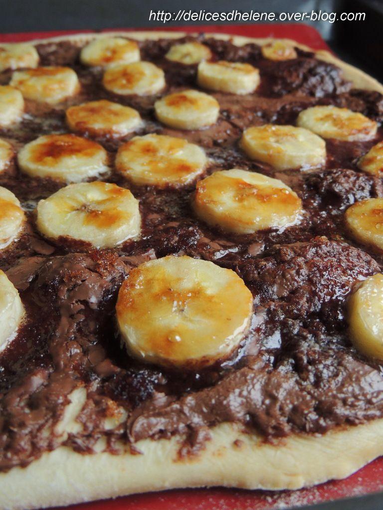 PIZZA SUCREE BANANE-NUTELLA