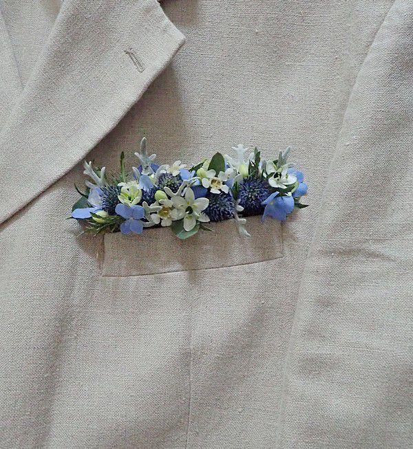 Margaux et ses fleurs... couronne et pochette
