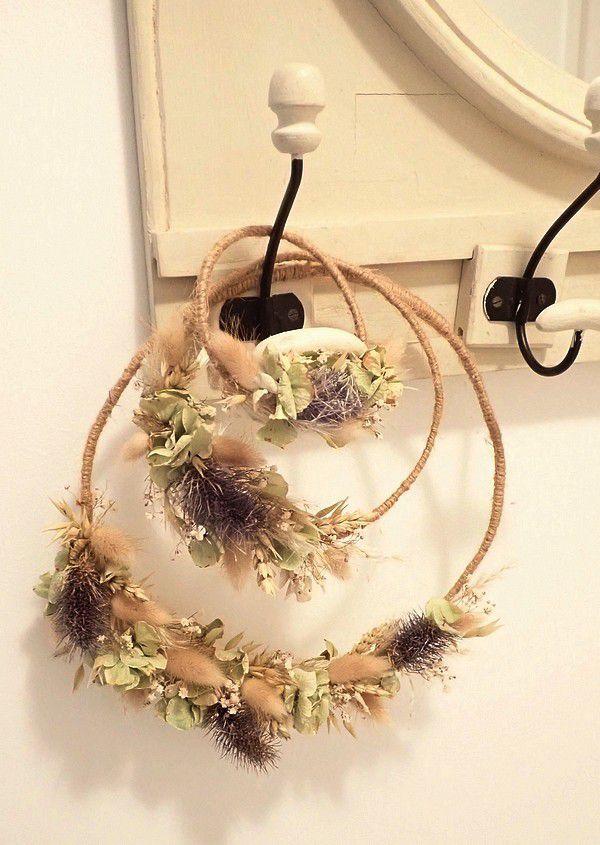 Avec des fleurs séchées.... TUTO