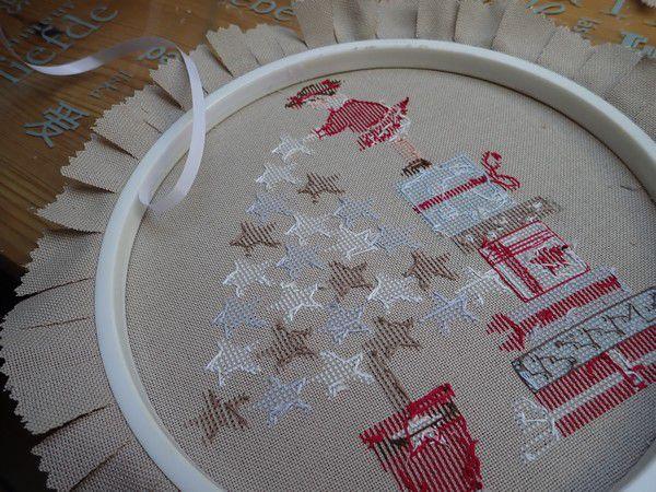 Stars de Noël... de Mme Chantilly, la finition