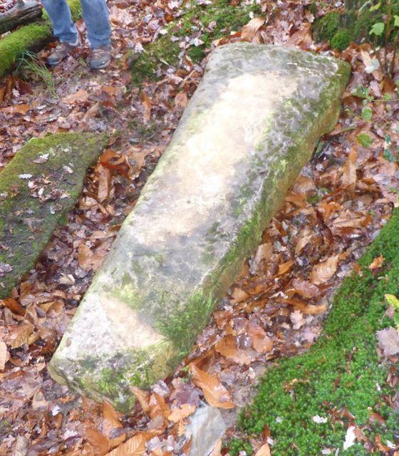 Le sarcophe lors de sa découverte (Cliché V. Dangel)