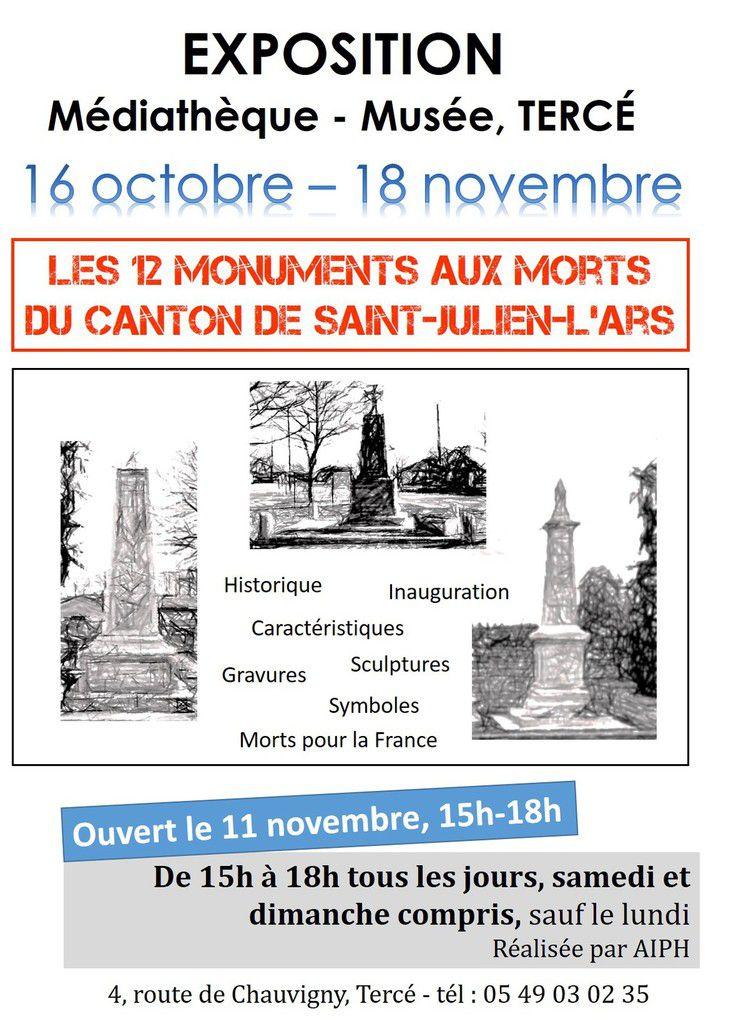 LES 12 MONUMENTS AUX MORTS DU CANTON DE SAINT-JULIEN-L'ARS