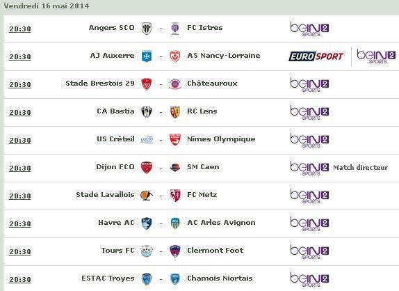 [Ven 16 Mai] Ligue 2 (J38) : MultiFoot (20h30) en direct sur BeIN SPORTS 2 !