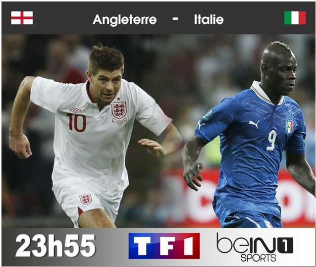 [Sam 14 Juin] Coupe du Monde 2014 : Angleterre / Italie (23h55) en direct sur TF1 et BeIN SPORTS 1 !