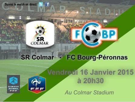 [Ven 16 Jan] Foot (National, 18ème Journée) Colmar / Bourg-Péronnas, à suivre en direct à 20h30 sur Ma Chaine Sport !