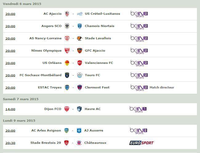 [Infos TV] Football - A suivre ce week-end, le Programme TV de la 27ème Journée de Ligue 2 !