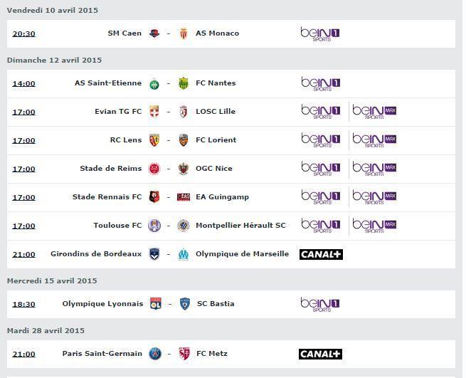 [Infos TV] Football - Découvrez le Programme TV de la 32ème Journée de Ligue 1 à suivre ce week-end !