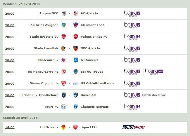 [Infos TV] Football - Découvrez le Programme TV de la 33ème Journée de Ligue 2 !