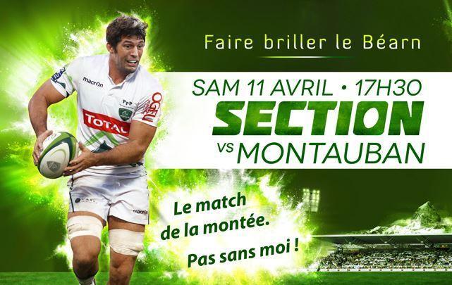 [Sam 11 Avr] Rugby (Pro D2, 27ème Journée) Pau / Montauban, à suivre en direct à 17h30 sur Eurosport !