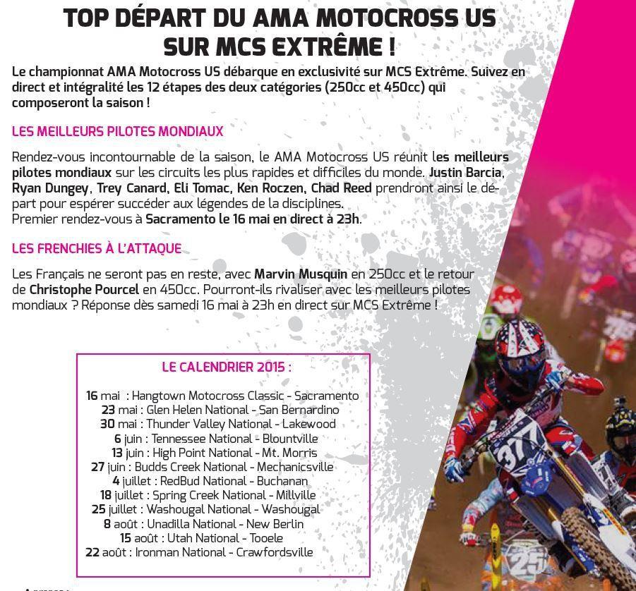 [Infos TV] Le championnat AMA Motocross US débarque en exclusivité sur Ma Chaîne Sport Extrême !