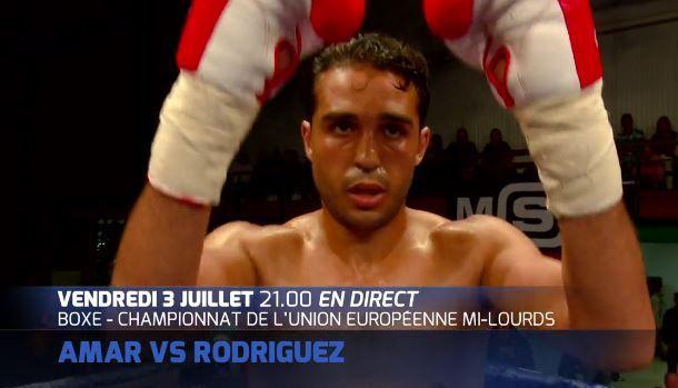 [Ven 03 Juil] Boxe (Championnat d'Europe Mi-Lourd) Mehdi Amar / Adasat Rodriguez, à suivre en direct à 21h00 sur Ma Chaîne Sport !