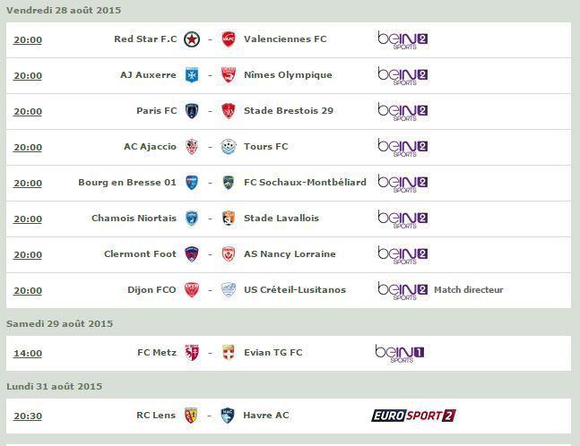 [Infos TV] Football - A suivre ce Week-end le Programme TV de la 5ème Journée de Ligue 2  !