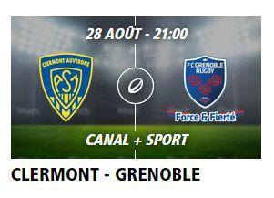 [Ven 28 Août] TOP 14 (J2) : Clermont / Grenoble (21h00) en