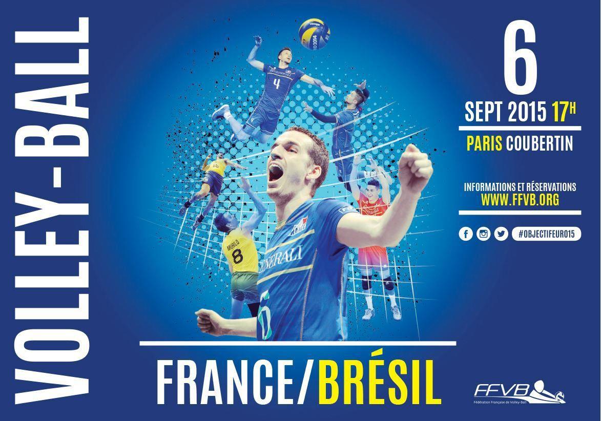 [Dim 06 Sept] Volley (Amical) France / Brésil à suivre en direct à 17h00 sur BeIN SPORTS 1 !