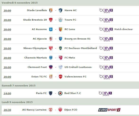 [Infos TV] Football - Découvrez le Programme TV de la 14ème Journée de Ligue 2 à suivre ce week-end !