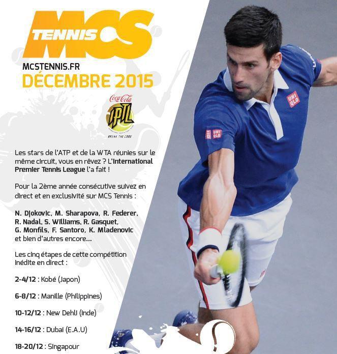 [Info TV] Découvrez les Temps Forts du mois de Décembre 2015 sur Ma Chaîne Sport Tennis !
