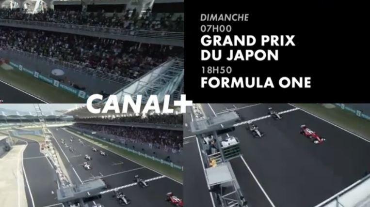 [Infos TV] Formule 1 - Le Grand Prix du Japon à suivre ce week-end sur les chaînes du groupe Canal Plus !