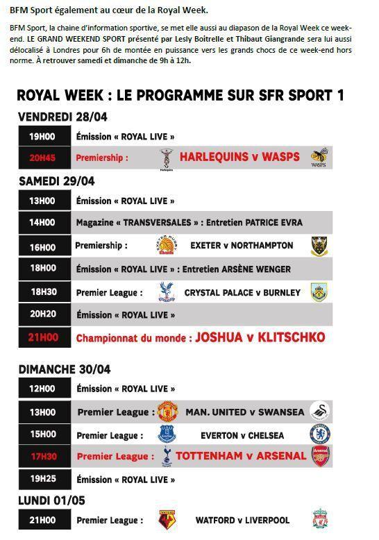 [Infos TV] Boxe -  Joshua vs Klitschko en direct et en exclusivité ce samedi sur SFR Sport 1 !