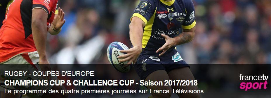 [Infos TV] Découvrez le programme des Coupes d'Europe de Rugby sur France Télévisions !