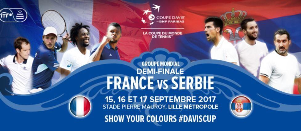 [Infos TV] La 1/2 Finale de Coupe Davis France / Serbie sur France Télévisions !